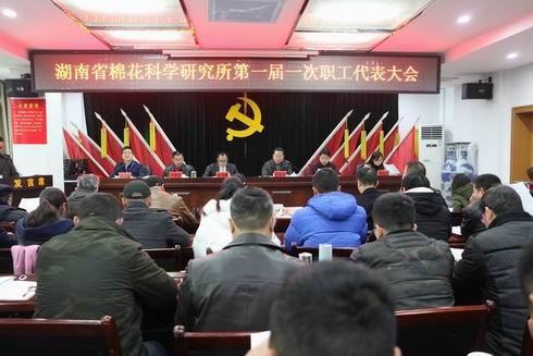 省棉科所组织召开第一届一次职工代表大会
