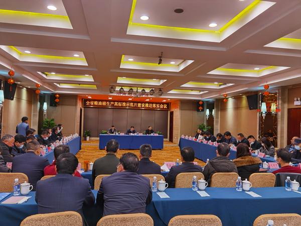 省棉科所参加全省粮油棉生产高标准示范片建设推进落实会议